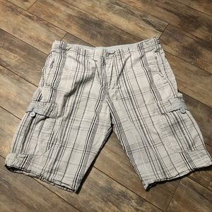 Nike Gray Plaid Cargo Shorts
